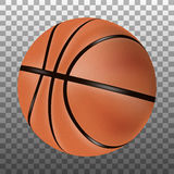 Palla isolata di pallacanestro 3d Fotografia Stock Libera da Diritti