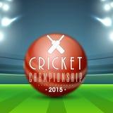 Palla lucida per il cricket Fotografie Stock