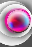 Palla magica variopinta dentro le superfici bianche del cerchio Immagine Stock Libera da Diritti