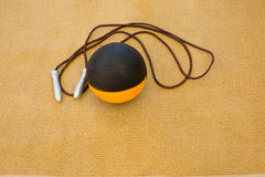 Palla medica con jumprope Fotografie Stock