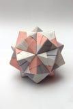Palla modulare variopinta di origami Fotografie Stock