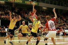 Palla a muro di AaB - GOG Svendborg TGI fotografia stock