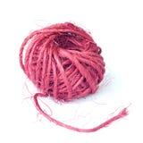 Palla organica fatta di fibra tessile naturale Fotografie Stock