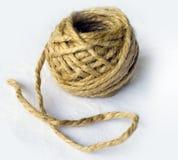 Palla organica fatta di fibra tessile naturale immagine stock