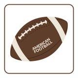 Palla per football americano isolata su un fondo bianco Fotografia Stock
