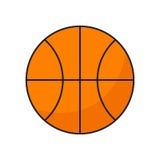 Palla piana di pallacanestro dell'icona Fotografia Stock Libera da Diritti