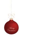 Palla realistica isolata di Natale. Illustrazione Vettoriale