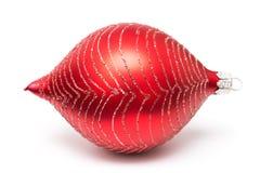 Palla rossa di Natale Immagini Stock Libere da Diritti