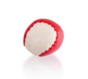 Palla rossa e bianca Fotografia Stock Libera da Diritti