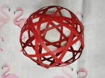 Palla rossa nel museo 061 di liangzhu fotografie stock