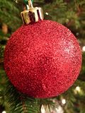 Palla rossa scintillante Immagini Stock Libere da Diritti