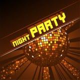 Palla scintillante della discoteca Partito di notte royalty illustrazione gratis