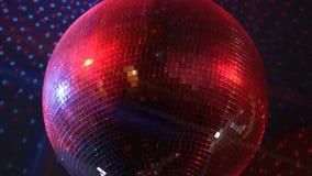Palla scintillante girante della discoteca archivi video
