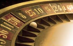 Palla sulle vecchie roulette Fotografia Stock Libera da Diritti