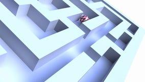 Palla tramite un labirinto illustrazione di stock