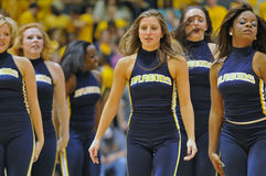 Pallacanestro 2012 degli uomini del NCAA - danzatori delle ragazze pon pon Fotografia Stock Libera da Diritti