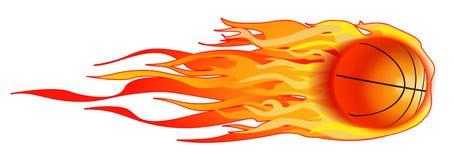 Pallacanestro ardente Fotografia Stock Libera da Diritti