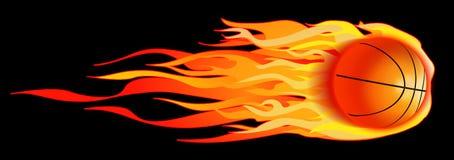 Pallacanestro ardente Immagine Stock