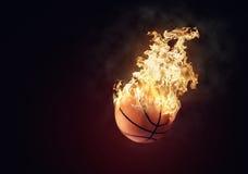 Pallacanestro bruciante Fotografia Stock