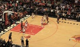 Pallacanestro Charlotte contro Chicago Bulls fotografia stock