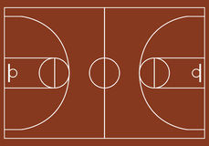 Pallacanestro court Immagine Stock