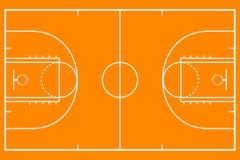 Pallacanestro court Campo del fondo del modello per strategia di sport Vettore illustrazione di stock