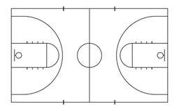 Pallacanestro court Fondo di sport Linea stile di arte illustrazione vettoriale