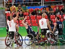 Pallacanestro 2016 dei giochi di paraolimpiadi fotografia stock