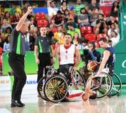 Pallacanestro 2016 dei giochi di paraolimpiadi fotografie stock libere da diritti
