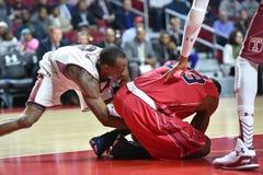 2014 pallacanestro del NCAA - grandi 5 Fotografia Stock Libera da Diritti