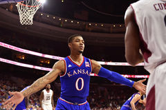 2014 pallacanestro del NCAA - Kansas al tempio Fotografie Stock Libere da Diritti