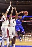 2014 pallacanestro del NCAA - Kansas al tempio Fotografia Stock Libera da Diritti