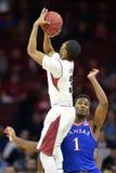 2014 pallacanestro del NCAA - Kansas al tempio Fotografia Stock