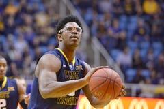 2015 pallacanestro del NCAA - stato di WVU-Oklahoma Fotografie Stock Libere da Diritti