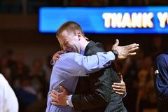2015 pallacanestro del NCAA - stato di WVU-Oklahoma Immagine Stock