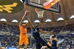 2015 pallacanestro del NCAA - stato di WVU-Oklahoma Fotografia Stock