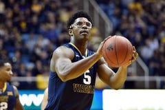 2015 pallacanestro del NCAA - stato di WVU-Oklahoma Immagini Stock