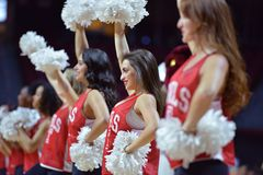 2015 pallacanestro del NCAA - tempio-Bucknell di NIT primo Rd Immagini Stock Libere da Diritti