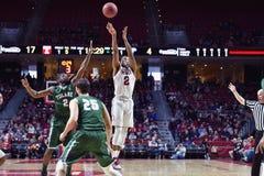 2015 pallacanestro del NCAA - tempio-Tulane Immagine Stock Libera da Diritti