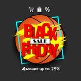 Pallacanestro di vendita di Black Friday Immagine Stock
