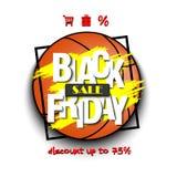 Pallacanestro di vendita di Black Friday Immagine Stock Libera da Diritti