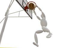 Pallacanestro dunking di colpo Fotografia Stock Libera da Diritti