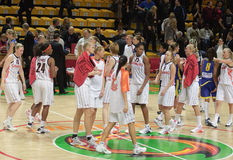 Pallacanestro Euroleague delle donne Fotografia Stock