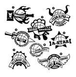 Pallacanestro Logo Badge Immagine Stock