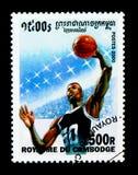 Pallacanestro, serie dei giochi olimpici, circa 2000 Immagini Stock Libere da Diritti