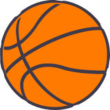Pallacanestro - sfera di sport Fotografia Stock