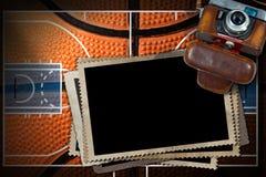 Pallacanestro - vecchie strutture della foto e della macchina fotografica illustrazione vettoriale