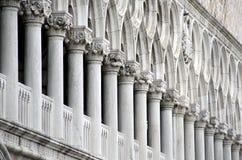 Pallace på Sts Mark fyrkant i Venedig Arkivfoto