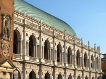 Palladian大教堂在威岑扎,意大利 免版税库存照片