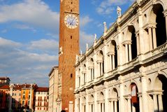 Palladian Basilica in Vicenza in Veneto (Italy) royalty free stock image